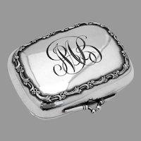 Ornate Soap Box Gilt Interior Silverplate Mono MB