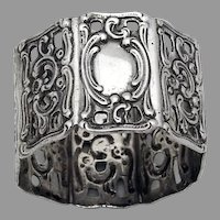 Small Ornate Napkin Ring Octagonal Form 800 Silver No Mono