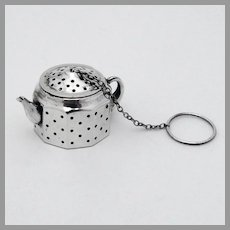 Teapot Form Tea Ball Sterling Silver Amcraft