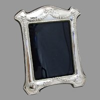 English Floral Swag Picture Frame John Bull Sterling Silver 1987