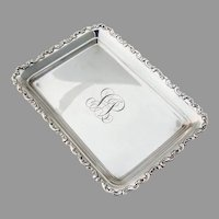 Louis XV Rectangular Tray Whiting Sterling Silver 1891 Mono VS