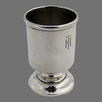 Footed Shot Cup Andrew Taylor Sterling Silver Mono TH
