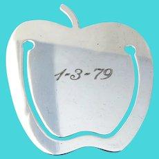 Tiffany Apple Form Book Mark Sterling Silver