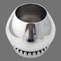 La Paglia Small Vase Beaded Rim Sterling Silver