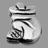 Figural Pill Box Sleeping Sombrero Man Sterling Silver Mexico