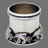 La Paglia Design Small Floral Cup Toothpick Holder Sterling Silver
