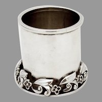 Alphonse La Paglia Cup Applied Floral Base Sterling Silver