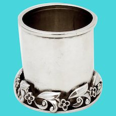 Alphonse La Paglia Cup Applied Floral Base Sterling Silver