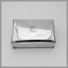 Rectangular Box Secret Lock James Blake Sterling Silver Mono C
