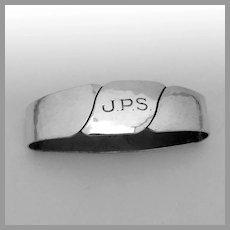 Arts And Crafts Oval Napkin Ring Randahl Sterling Silver Mono JPS