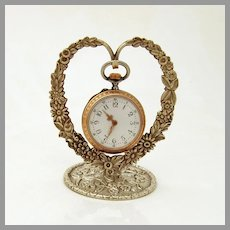 Floral Repousse Pocket Watch Holder Kirk Son Co Sterling Silver