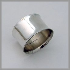 Wide Plain Design Napkin Ring Wallace Sterling Silver No Mono