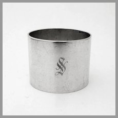 Plain Heavy Napkin Ring Reed Barton Sterling Silver Mono S