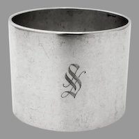 Plain Heavy Napkin Ring Reed Barton Sterling Silver Mono S