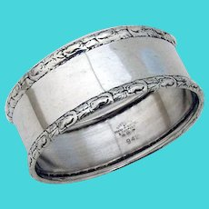 Floral Border Napkin Ring Frank Whiting Sterling Silver