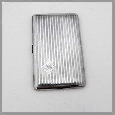 Engine Turned Cigarette Case Sterling Silver 1916 Mono HHB