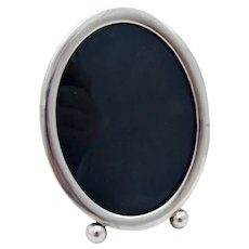 Oval Picture Frame Ball Feet Scharling Sterling Silver