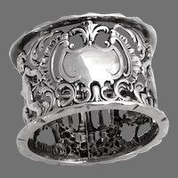 English Openwork Cupid Napkin Ring Thomas Hayes Sterling Silver 1897