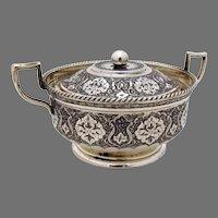 Persian Ornate Covered Sugar Bowl 84 Standard Silver