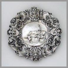 Don Quixote Decorative Plate Baroque Designs Silver Plated Copper