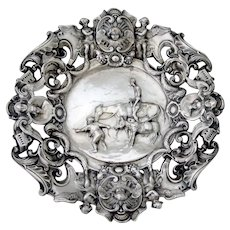 Don Quixote Decorative Plate Baroque Designs Silver Plated Copper
