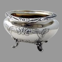Burgundy Footed Waste Bowl Sterling Silver Reed Barton 1956