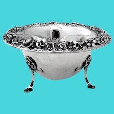Repousse Footed Mayonnaise Bowl No 178 Kirk Son Co Sterling Silver