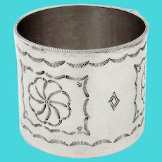 Navajo Style Ornate Baby Cup Sterling Silver