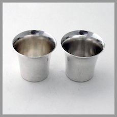 Stieff Shot Cups Pair Flared Edges Sterling Silver