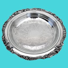 Wallace Baroque Footed Pie Plate No 251 Glass Liner Silverplate