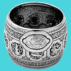 Scottish Zodiac Napkin Ring James Reid Sterling Silver 1883 Crest