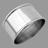 Plain Design Napkin Ring Gorham Sterling Silver No Mono