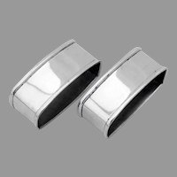 Oval Napkin Rings Pair Webster Sterling Silver No Mono