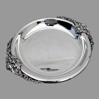 Wallace Baroque Large Round Serving Tray No 211 Silverplate