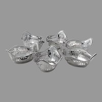 Gorham 6 Nut Cups Set Sterling Silver 1901 Mono B