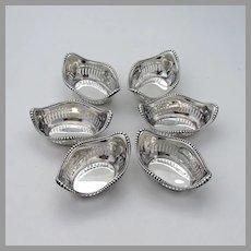 Beaded Pierced Nut Cups Set Gorham Sterling Silver No Mono