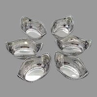 Beaded Pierced Nut Cups Set Gorham Sterling Silver No Mono