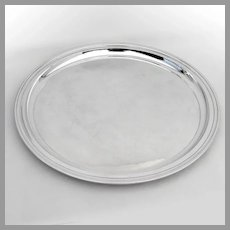Tiffany Modernist Round Tray Sterling Silver 1950s
