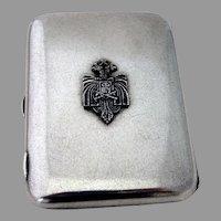 Cigarette Case Russian Double Headed Eagle Applied Crest