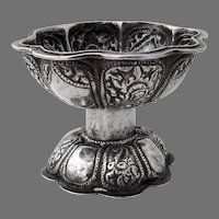 South East Asian Small Bowl Open Salt Dish 900 Silver