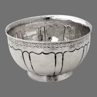Spanish Colonial Silver Small Footed Bowl 1800