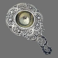 Openwork Baroque Design Tea Strainer 830 Silver