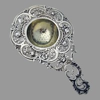 Openwork Baroque Design Tea Strainer 830 Silver