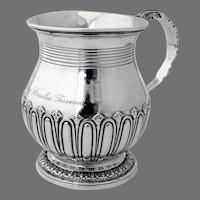 English Christening Cup Emes Barnard Sterling Silver London 1824 Mono