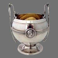 Medallion Sugar Bowl No 211 Gorham Coin Silver 1880 No Mono