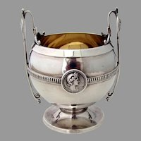 Medallion Sugar Bowl No 211 Gorham Coin Silver 1880 No Mono