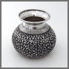 Ornate Indian Vase 900 Silver