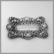 Repousse Rectangular Pin Tray Sterling Silver