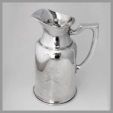 Hotel Thermos Pitcher Double Walled  Silver Plated Restel Mexico