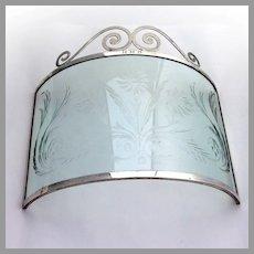 Colonial Revival Candle Screen Henckel Sterling Silver 1920 Mono HMB